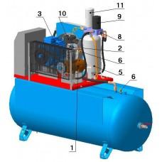 Винтовой компрессор с ременным приводом BK20E-8(10/15)-500ДФ