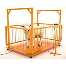 Весы платформенные МВСК С-Н-1 (1,0х1,0) для взвешивания животных 1,5 м