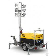 Осветительная мачта на безе дизель генераторов QAX