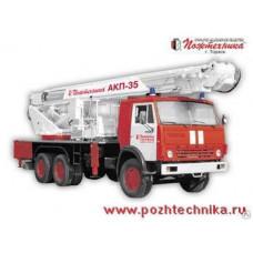 Автоподъемник коленчатый пожарный АКП-35 КамАЗ-53215