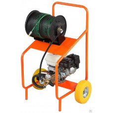 Аппарат для прочистки труб Преус Б1515 с бензиновым двигателем