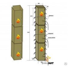 Термомат 2-ух сегментный для прогрева колонн, кв.м