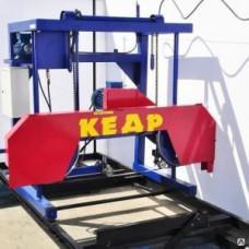 Пилорама ленточная электрическая Кедр-2 с усиленным рельсовым путем
