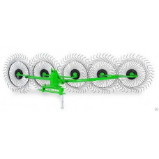 Грабли ГВК-3,5М 5 колес, захват 3,5 метра, 6 мм