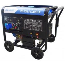 Инверторный бензиновый сварочный генератор TSS GGW 5.0/200ED-R открытый