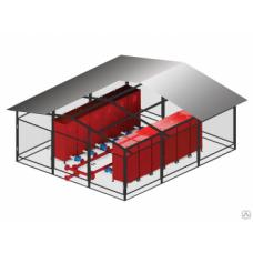Установка пожаротушения УГПП из стандартных модулей