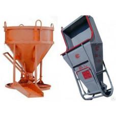 Бадья для бетона «Рюмка» 0,5 (БН-0,5) Pro, с лотком 600х1250 мм