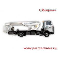 Подъемник автомобильный рычажно-телескопический ПАРТ-22 МАЗ-437041