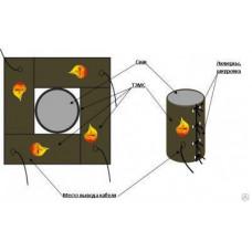 Термомат для прогрева буронабивных свай и основания вокруг них, кв.м