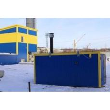 Газовый теплогенератор ТГВ-250 в блок-контейнере