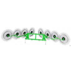 Грабли ГВК-8М 8 колес, 6 метров, 6 мм
