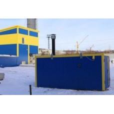Дизельный теплогенератор ТГВ-250 в блок-контейнере