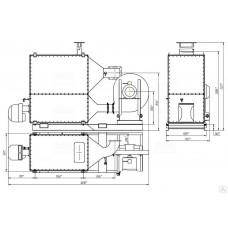 Газовый теплогенератор ТГВ-250 тепловая мощность 250 кВт