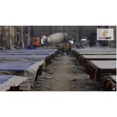 Термомат для прогрева бетонных плит на заводе ЖБИ, кв.м