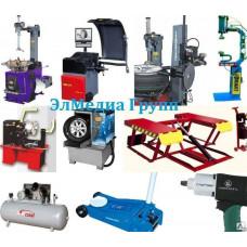 Шиномонтажное оборудование, станок, балансир, компрессор, вулканизатор.