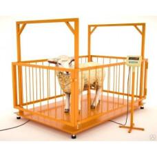 Весы платформенные МВСК С-Н-0,3 (0,75х1,0) для взвешивания животных 1,5 м
